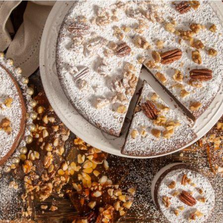 Torta de Brownie Praline