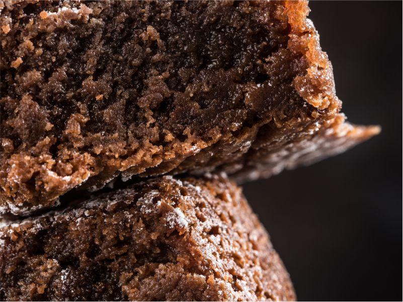 Torta Brownie Primer Plano